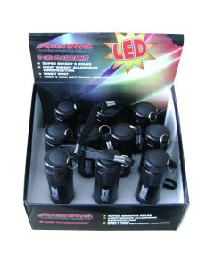9-LED Flashlight, Retail 10 Pack Display