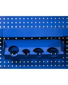 Extreme Tools Adjustable Hanging Power Tool Rack, Blue