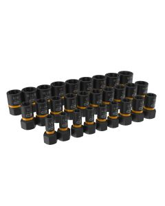 "28-pc 1/4"" & 3/8"" Drive Bolt Biter Impact Extraction Socket Set"