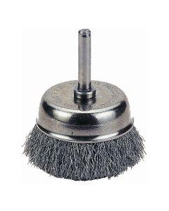 "Wire Cup Brush, 2-1/2"" Diameter, Fine"