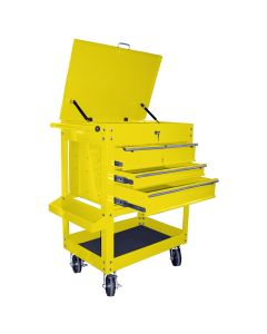Heavy Duty 4-Drawer Service Cart, Yellow