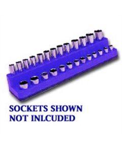 1/4 in. Drive Shallow / Deep Neon Blue Socket Holder 4-14mm