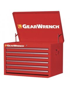 GearWrench 83124 TEP Series 27 in. 6-Drawer Top Chest, Red