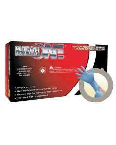 Nitron One Lightly Powdered Nitrile Gloves X Large