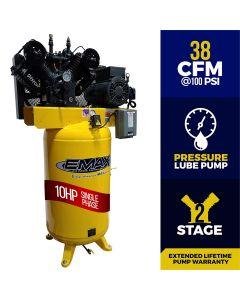 Compressor 10 HP 2 Stg 1 Phase horz. 80 Gal