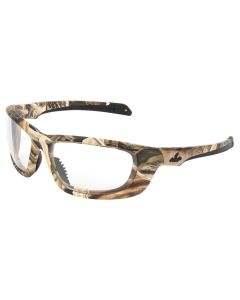 Mossy Oak Blades UD1 Series Camouflage Safety Glasses Mossy Oak Shadow Grass Blades Camo Pattern ClearLenses with MAX6, Anti-fog Coating