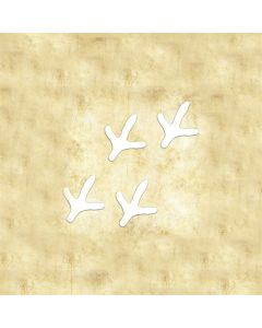 "Turkey Tracks- Vinly Die Cut Decal 6"" x 8"" WHITE"