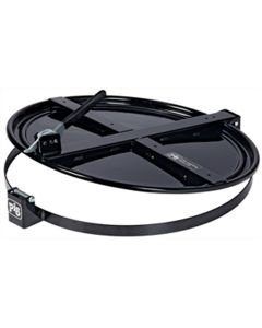Latching Drum Lid for 55 Gallon Drum, Blac
