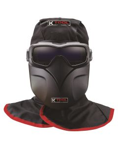 KTI Auto Darkening Welding Goggles Kit w/ Fire Retardant Hood and Bump Cap, Goggles, Protective Sheild and Carrying Bag