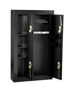 8 Gun Double Door Steel Security Cabinet / Black