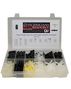 Large Vacuum Tee, Cap and Connector Assortment (385-pc)