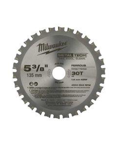 Milwaukee 5-3/8 in. 30 Teeth Ferrous Metal Circular Saw Blade