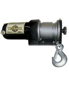 """Winch, 12 Volt, 2000 lb Single Line Rated Pull, Power In and Out, Hand Held Remote, 50' x 5/32"""" Wire"""