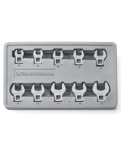 "10-Piece 3/8"" Drive Metric Crowfoot Wrench Set"