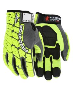 Predator Mechanics Gloves Synthetic leather palm with MAXGrid pattern palm and fingers Tire tread pattern TPR on Spandex back HyperMax cut resistant palm liner
