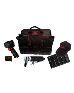 """1/2"""" Drive Mighty Seven Air Tool Kit With Tool Bag And 15 Pc. 1/2"""" Dr. Mini Socket Set"""