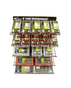 KTI Assortment Display Hardware (Display Board, Fasteners, Overlay and Slanted Wire Shelves)