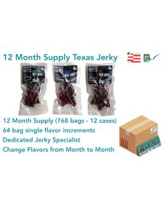 12 Month Qty. of TEXAS JERKY (Flavors of Choice)