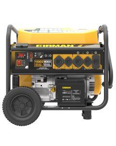10000/8000 Watt 50A 120/240V Remote Start Gas Portable Generator cETL Certified w/ Wheel Kit