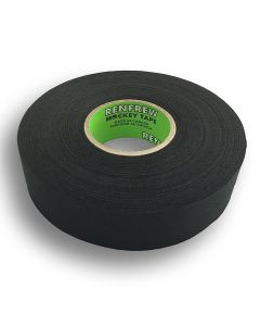 "Renfrew Cloth Hockey Tape, 1"" (Straight Edge Black, 25m long)"