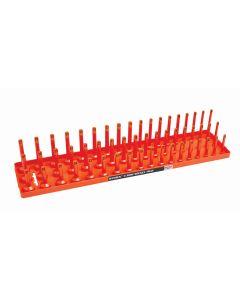 "1/2"" Metric 3-Row Socket Tray, Orange"