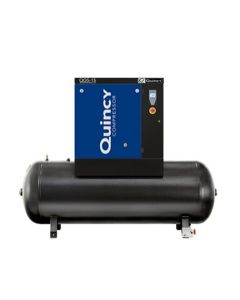 Quincy QGS 15-HP 60- Gallon Tank Mounted Rotary Screw Air Compressor With Dryer Triv/3/60