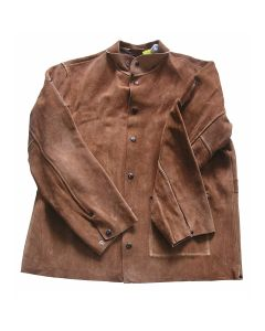 Shark 14521 Leather Welding Jacket, X-Large, Brown