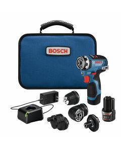 12V Max Brushless FlexiClick 5-in-1 Drill Driver Kit w/ (2) 2.0Ah Batteries