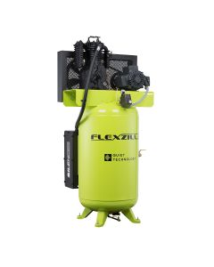 Flexzilla Air Compressor with Silencer, 5 HP, 80 Gal.,1-Phase, 2-Stage