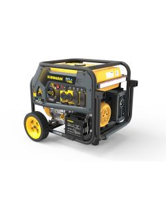 Dual Fuel 7125/5700W Electric Start Gas or Propane Powered Portable Generator with Wheel Kit