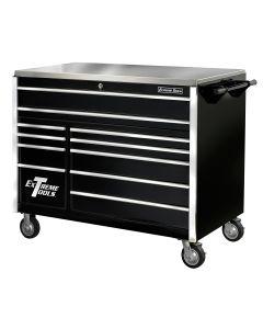 """55"""" 11 Drawer Professional Roller Cabinet - Black"""