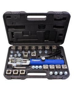 Universal Hydraulic Flaring Tool Set with GM Transmission Cooling Line Dies and Adapters