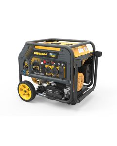 Dual Fuel 4550/3650W Electric Start Gas or Propane Powered Portable Generator with Wheel Kit