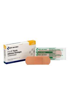 """1""""x3"""" Plastic Bandages, 16/box"""