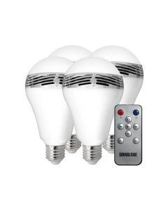 SoundLamp LED Light Bulb with Bluetooth 4PK