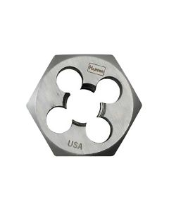 "High Carbon Steel Hexagon 1"" Across Flat Die 1/4""-28 NF"