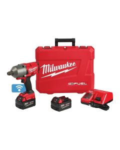 M18 FUEL w/ ONE-KEY High Torque 3/4 in. Impact Wrench and Friction Ring and (2) Batteries Kit