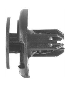Push-type Retainers, Black Nylon, Size: 8mm, Stem: 11mm, Head: 20mm, Honda 91512-SX0-003, Qty: 10