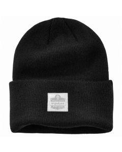 6806 Black 6806 Cuffed Rib Knit Beanie Hat