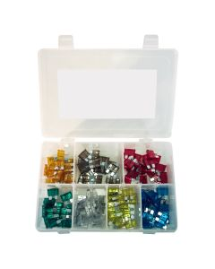 120-pc Auto Fuse Assortment, COlor Coded, 5 - 30 Amp