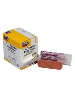 "1""x3"" Heavy Woven Fabric Bandages, 50/box"