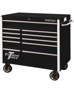 "Extreme Tools 41"" 11-Drawer Roller Cabinet, Black"