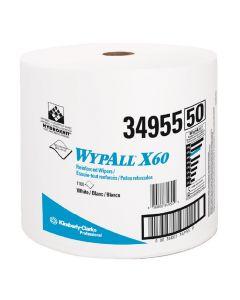 WYPALL X60 WIPERS WHITE JUMBO ROLL KREW 500