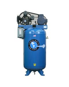 Atlas Two Stage, 5 HP/220-Volt Single Phase Air Compressor (Freight Prepaid)
