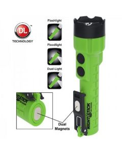 Bayco X-Series Dual-Light AA Flashlight w/ Dual Magnets w/ Green Casing