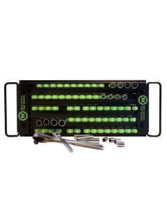 5-Row Lock-a-Socket Tray in Matte Black/Green Posts