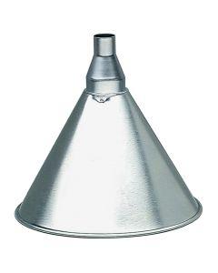 """7"""" Diameter 1 Quart Galvanized Utility Steel Funnel"""