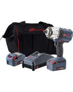 "20V 1/2"" Drive Cordless Impact Wrench 2 Battery Kit - High Torque, IQv Power Control w/ 4 Modes, Brushless Motor, LED Light Ring, Gray"
