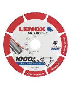 """LENOX Metal Max Die Grinder Diamond Cutoff Wheel 4"""" X 3/8"""""""