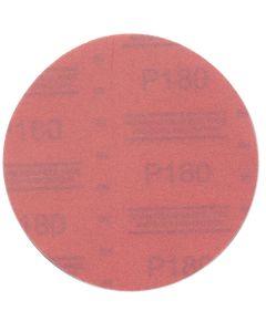 "3M Red Abrasive Hookit Disc, 6"", P180 Grit, 50 Per Box"